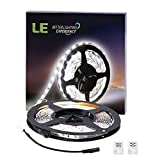 Lighting EVER Lampux 12V Flexible LED Strip Lights, Daylight White, 300 Units 3528 LEDs, Non-waterproof, Light Strips, Pack of 16.4ft