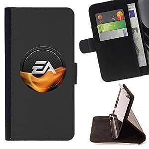 BullDog Case - FOR/HTC One M8 / - / EA Gaming /- Monedero de cuero de la PU Llevar cubierta de la caja con el ID Credit Card Slots Flip funda de cuer