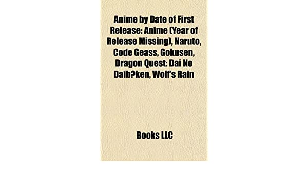 Anime by Date of First Release: Anime Year of Release ...