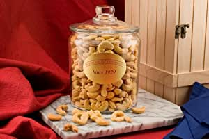 Giant Cashews (2.5 Pound Glass Jar) (Salted)