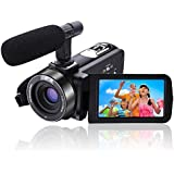 Camcorder Video Camera Full HD Camcorders 1080p 30FPS 24.0MP Digital Camera 3'' LCD Touchscreen With External Microphone and Remote Controller