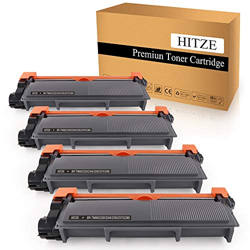 HITZE Compatible Toner Cartridge Replacement for Brother TN630 TN660 TN-660 for Brother MFC-L2700DW DCP-L2540DW HL-L2300D HL-2380DW HL-2340DW HL-L2360DW MFC-2740DW (Black, High Yield, 4 Pack)