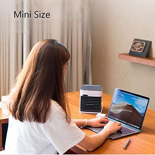 ZPEE USB-schnittstelle Klimaanlage Ventilator,Klein Klingenloser Lüfter Zu Dormitory Büro,Tabelle Luftbefeuchter Luftkühler,Tragbar Desktop Stummer Lüfter A 6x6x7inch
