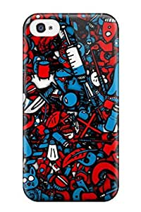 Hot New Blue And Red Figurine And Numbers Case Cover For Iphone 6 4.7 With Perfect Design