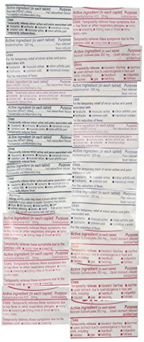 Adventure Medical Kits Backpacking Refill Medications, 18 Count