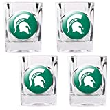 NCAA Michigan State Spartans Square Shot Glass Set (4-Piece)