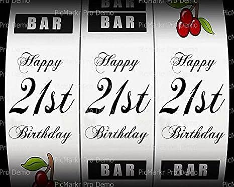 82nd Slot Machine Birthday ~ Edible 2D Fondant Cake Cupcake Topper ~ D24311 *