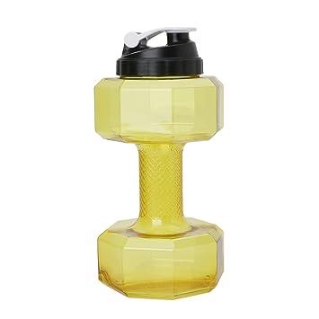 Lergo Creative - Mancuernas de Gran Capacidad para Botella de Agua DE 2,2 L, Amarillo: Amazon.es: Deportes y aire libre