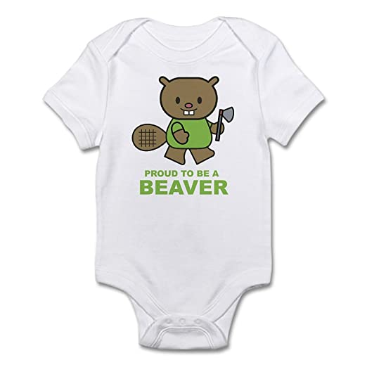 702359d772ee Amazon.com  CafePress Proud To Be A Beaver Infant Creeper Baby ...