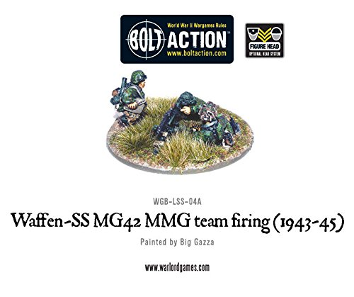 Waffen-SS MG42 MMG team, 28mm Bolt Action Wargaming Miniatures