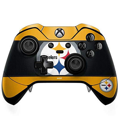 (Skinit Pittsburgh Steelers Zone Block Xbox One Elite Controller Skin - Officially Licensed NFL Gaming Decal - Ultra Thin, Lightweight Vinyl Decal Protection )