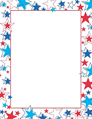 Great Papers! Red White & Blue Stars Letterhead, 80 Count, 8.5