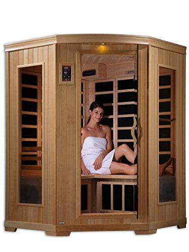 DYNAMIC SAUNAS AMZ-GDI-62-35-01 Luxury 2 Corner Low EMF FAR Infrared Sauna