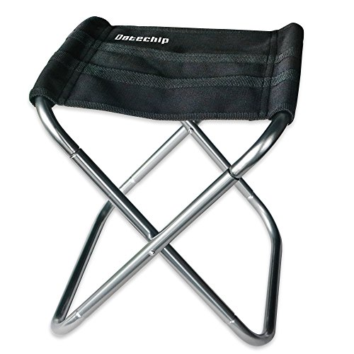 Datechip Mini Folding Camping Chair for Children, Small Portable Stainless Steel Fishing Seat Lightweight Stool, Compact, Heavy Duty, Ideal for Travel Camping Hiking Barbecue Beach Backpacking Outdoor (Folding Tailgate Step)