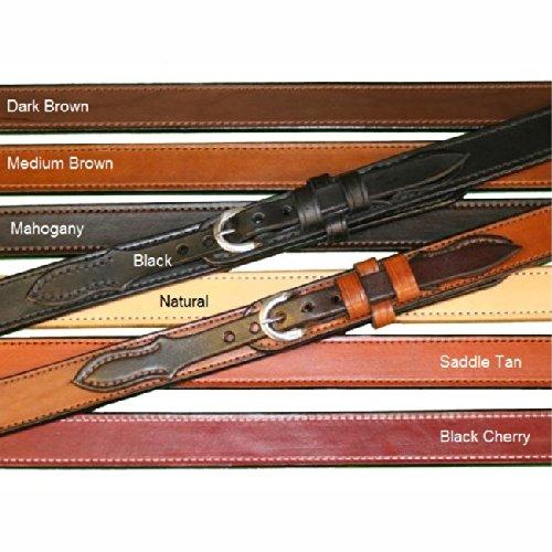 """Tucker and Byrd 60"""" Ranger 1 1/2"""" Gun Belt Natural Chrome"""