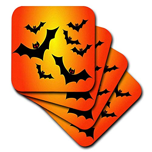 3dRose Sandy Mertens Halloween Designs - Flying Black