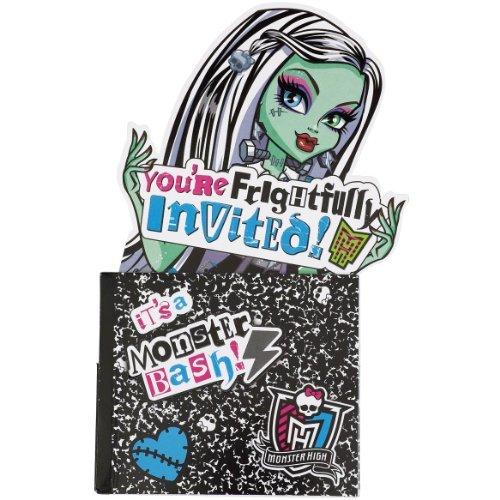 Monster High Novelty Invitations 8ct (Monster High Invitations)
