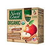 North Coast Organic Apple Sauce with Cinnamon 4ct Pouches (Pack of 4)