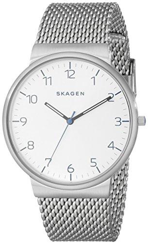 Skagen Men's SKW6163 Ancher Stainless Steel Mesh Watch (Skagen Stainless Steel Watch compare prices)