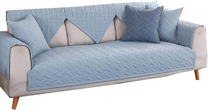 ZHFEL Acolchado Funda De Sofá Algodón,Antideslizante Cubre Sofas Espesar 3 Plaza Muebles Protector Couch Funda Multifuncional para Combinación Sofá Mascotas Gato Perro-36x94-E: Amazon.es: Hogar