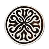Floral Design Wooden Block Handmade Textile Printing On Fabric Stamp Art India