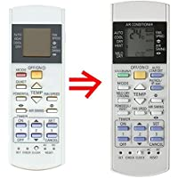 Replacement for Panasonic Air Conditioner Remote Control CS-E12EKU CS-E18EKU CS-E21EKU CS-E9EKU CU-E12EKU