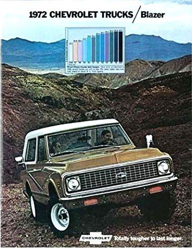 - 1972 CHEVY BLAZER TRUCK DEALERSHIP SALES BROCHURE - INCLUDES; ALL MODELS - 2-WHEEL & 4-WHEEL - ADVERTISMENT - LITERATURE - CHEVROLET 72