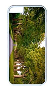 Kings Avenue Sandringham Norfolk England trees road PC White Hard Case for Apple iPhone 6(4.7 inch)