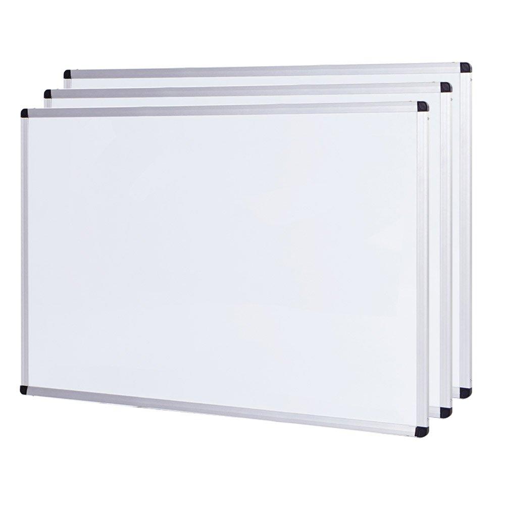 "VIZ-PRO Dry Erase Board, Melamine, 60"" L x 36"" W, Silver Aluminum Frame 60"" L x 36"" W Zhengzhou AUCS WB6036M"