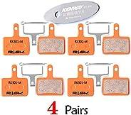 CYCEARTH 4 Pairs Bike Disc Brake Pads (Semi-Metallic / Sintered Metal) for TRP Tektro Shimano Deore Br-M575 M5