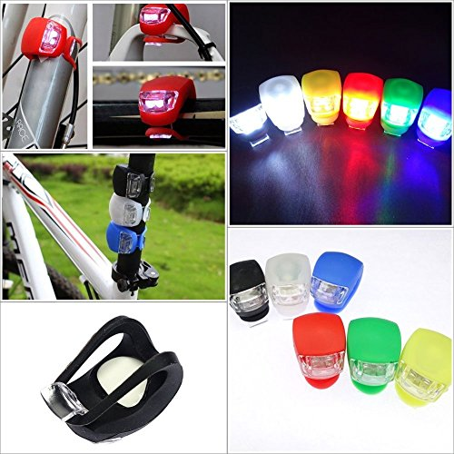 Bike Accessories Bike Light - Hot Silicone Bike Bicycle Cycling Bicicletas Head Front Rear Wheel Led Flash Safety Light Lamp Bike Accessories Drop Shipping - Brake Pads Road Bike (Green)