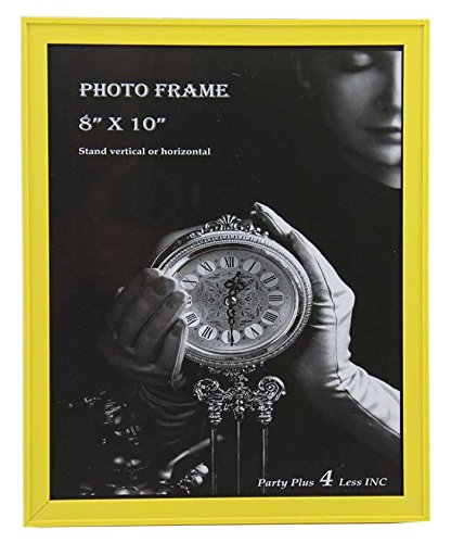 """Yellow Plastic 8"""" x 10"""" Picture Frame"""