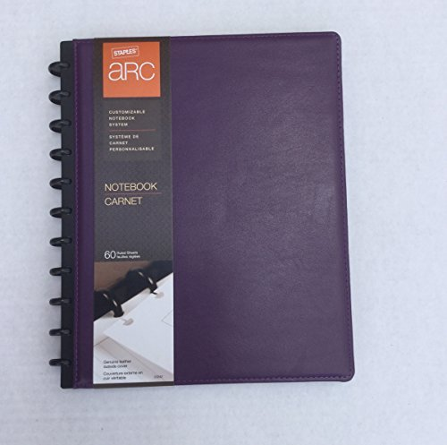 Stables Arc Customizable Notebook System Leather 8.5 x 11 inch (Purple)