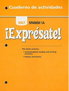 Amazon expresate spanish student edition level 1a exprsate exprsate cuaderno de actividades student edition level 1a fandeluxe Image collections