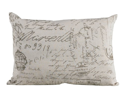 HiEnd Accents Fairfield Printed Linen Pillow