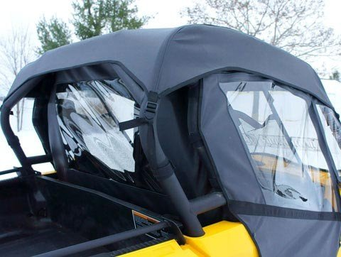 (Grey) 2010-2013 Can Am Commander 800/1000 Full Cab Enclosure (Gray) with Vented Windshield By Mammoth Skins