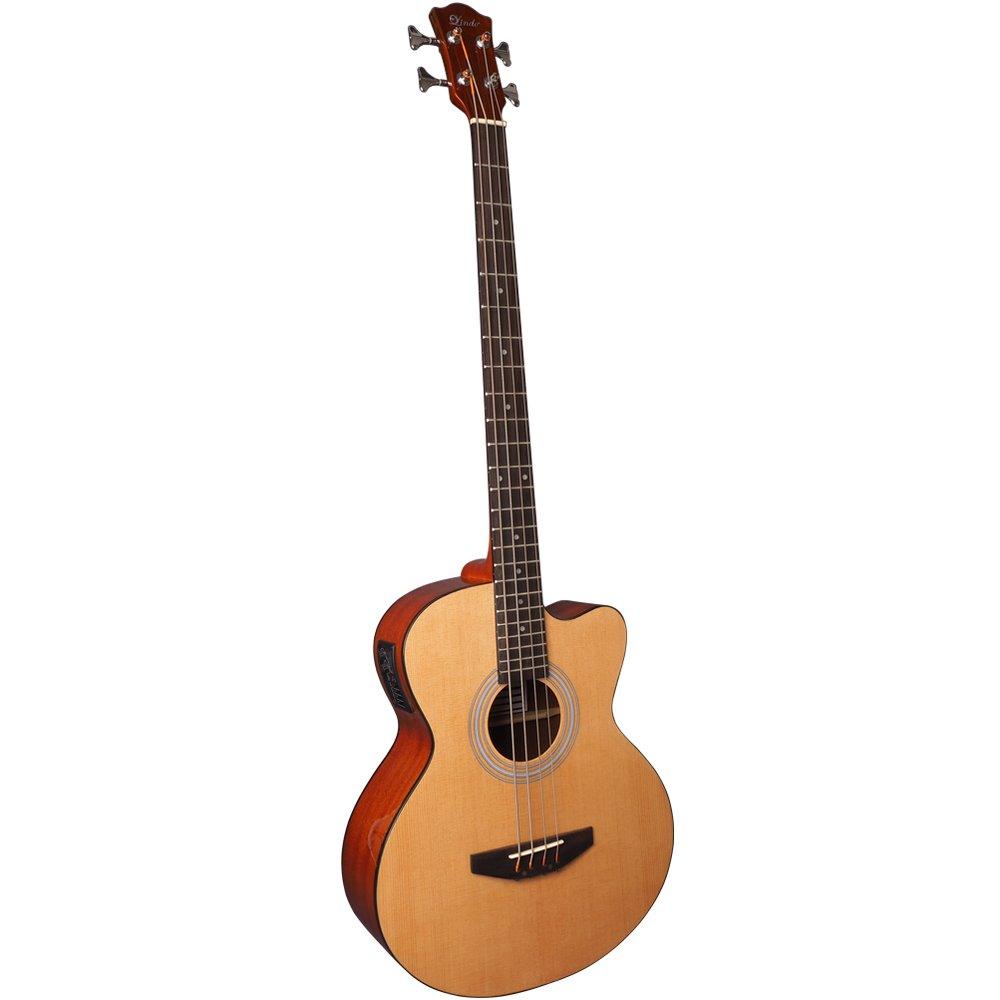 Lindo Elektrische Akustik-/Bassgitarre mit Kabel/FMB-010 Batterie EA-BASS