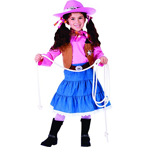 Denim Vest Costume (Junior Cowgirl - Size Toddler 2)
