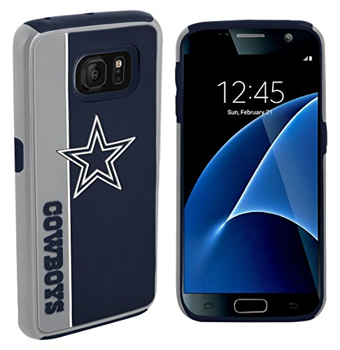 Forever Collectibles Dual Hybrid BOLD Series Case for Samsung Galaxy S7 - NFL Dallas ()