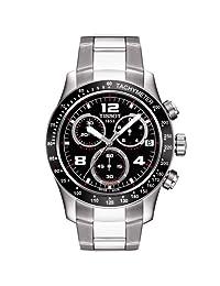 Tissot Men's T0394171105702 V 8 Stainless Steel Black Chronograph Dial Watch