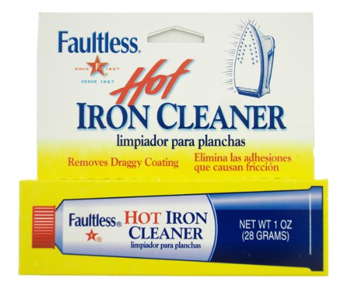 Faultless Starch 40110 Faultless Hot Iron Cleaner1oz (28 Grams) - Rowenta Soleplate Cleaner