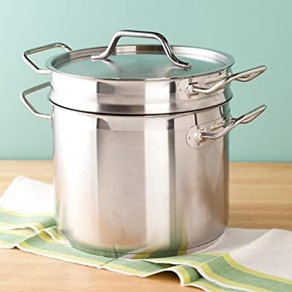 Image Unavailable Not Available For Color 8 Qt Stainless Steel Clad Double Boiler