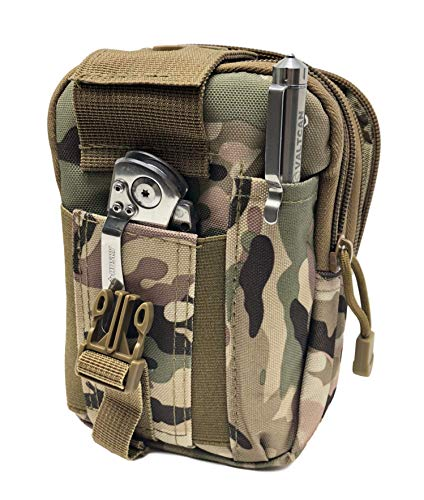 Valtcan Tactical Molle Bags Water Bottle, Mobile Phone, and Camping Hiking Pouches 3 Pack Set by Valtcan (Image #6)