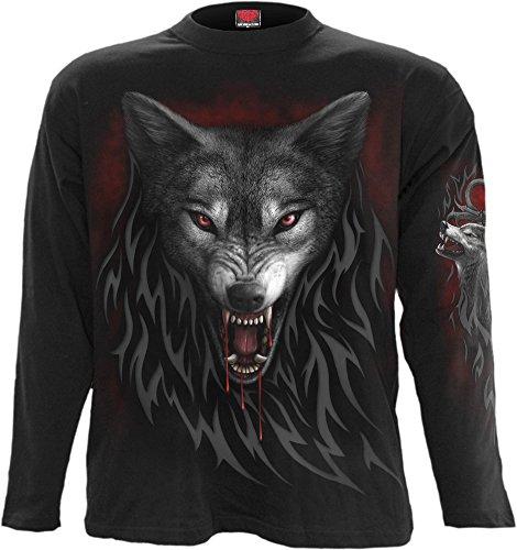 Spiral - Mens - Legend of The Wolves - Longsleeve T-Shirt Black - L