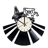 Best SpongeBob SquarePants Aquariums - SpongeBob SquarePants vinyl record wall clock decor gift Review