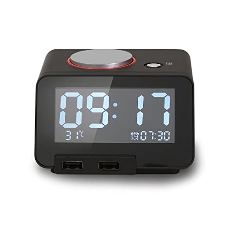 multi phone charging station. Homtime Multi-function Alarm Clock, Indoor Thermometer, Charging Station/Phone Charger With Multi Phone Station