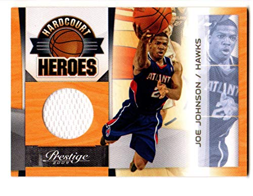 2009-10 Prestige Hardcourt Heroes Materials GAME USED JERSEY #1 Joe Johnson ARKANSAS RAZORBACKS ATLANTA HAWKS