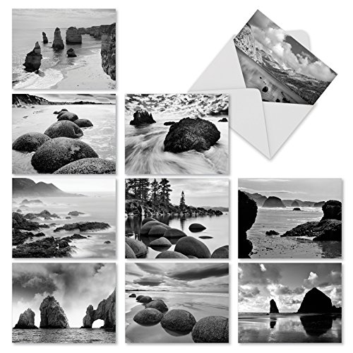 M3309sl On The Rocks: 10 Assorted Blank All-Occasion Note Cards Feature Dramatic Rocky Landscapes, w/White Envelopes.