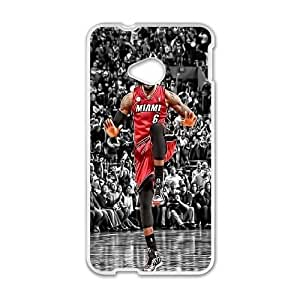 HTC One M7 Cell Phone Case White LeBron James_005 Gift P0J0Z3-2391434