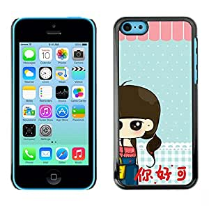 - Cute Girly Lovely - - Slim Guard Armor Phone Case FOR Apple iPhone 5C Devil Case